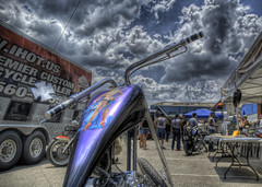 Girl on Harley (Stuck in Customs) Tags: rot austin texas harley harleydavidson motorcycle hdr stuckincustoms