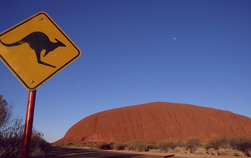 Letrero de canguros Australia