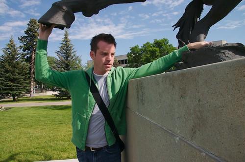 Josh & Statue