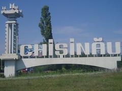 Chisinau greeting monument