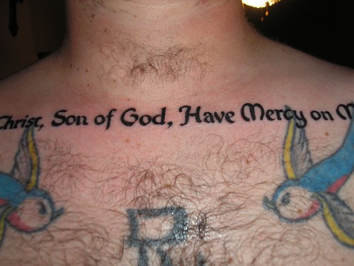 Jesus Prayer Tattoo - Center
