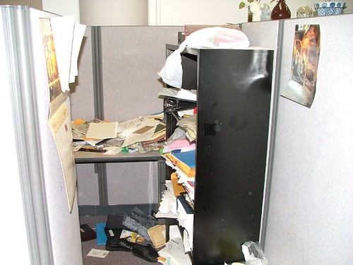 World's Messiest Office Cubicle