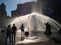 Portland Waterfront Fountain (Gigapic) Tags: summer portrait people usa water fountain silhouette oregon portland landscape geotagged fun play unitedstates action pdx googleearth geotag interestingness69 i500 challengeyouwinner 3waychallenge geo:lat=45515366 geo:lon=122673293 photofaceoffwinner pfogold herowinner ultraherowinner shchofwinner