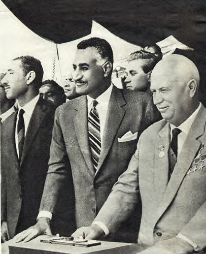Egyptian President Gamal Abdel Nasser With Krushev of the USSR