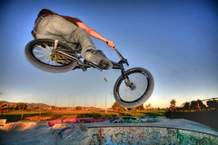 RJ hdr (longristra) Tags: newmexico bike bicycle wheel turn canon eos graffiti jump bmx ramp cyclist rj ride action air extreme skills down adventure explore tricks 5d biker bicyclist trick hop extremesports airtime adrenaline thrills hdr tabletop stunt stunts stopaction stun turndown canoneos5d photodotocontest2 kakadoochoice