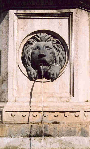 Detail of waterfountain on the Graben, Vienna, Austria, May 2006