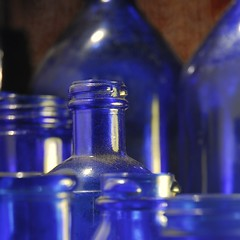 cobalt bottles (distantblue) Tags: blue flickr bottles cobalt 5hits bottlessortedit bottleenvy