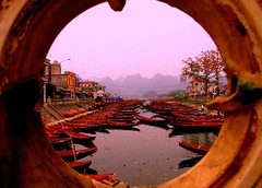 Portal view (ivanyu) Tags: water boats vietnam 5hits