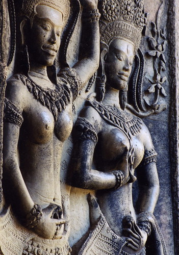 Nymphs, Angkor Wat, Siem Reap, Cambodia by Ran Chakrabarti.