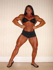 Candy Canary front lat spread (hansk01) Tags: female muscle bodybuilding fbb candycanary