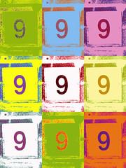 9 - Pop Art Version (Paula Bird Parent) Tags: nine 9