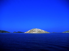 Royal Blue (Croatia) (Ana Bel) Tags: ocean blue sea vacation sky holiday water catchycolors island happy freedom scenery ship bright wide croatia cloudless topaz kornati