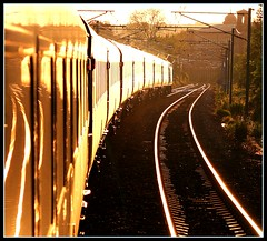 Train Sunset (Thrash Merchant) Tags: canon tracks trains eos350d saltaire gner hst thrashmerchant