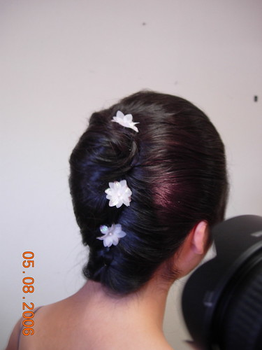 french twist hairstyle. Bridal french twist hairstyle