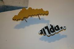 Clouds by Juan Chavez for the Version 6 fundraiser @Heaven Gallery, Chicago (fotoflow / Oscar Arriola) Tags: wood usa chicago art festival angel clouds america cutout us illinois heaven gallery arte juan united version arts il mexican american states fest chavez alternative benjamins chicagoart juanchavez versionfest2006