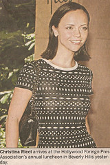 Christina Ricci in a seethrough top (Reid Harris Cooper) Tags: silly celebrity newspaper funny comedy ap seethrough christinaricci
