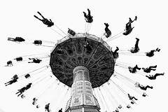 CNE Swings (DanielN) Tags: bw toronto ride swings cne bnw wellenflieger