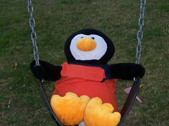 Ahhh...the swings (SueZeeCue) Tags: fun penguin swing gowin