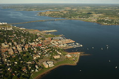 Downtown Charlottetown (Martin Cathrae) Tags: bridge canada water boats downtown harbour fromabove pei charlottetown
