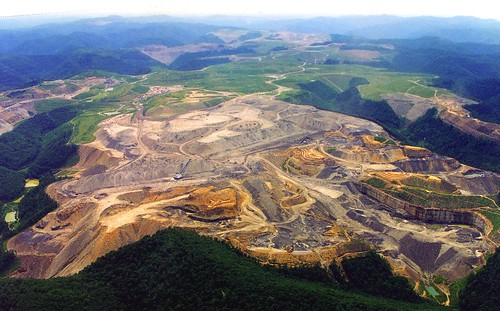 Mountaintop removal site near Blair
