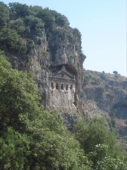 Caunos rock tombs (h_savill) Tags: cliff holiday history archaeology rock turkey carved ancient ruin unfinished tombs dalyan caunos caria caunus exploreworldwide kaunus