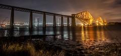 DSC_1466 (peterbaird100) Tags: night forthrailwaybridge waterreflections nighttime