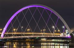 Squinty Bridge (aka Clyde Arc) Glasgow (Graham Cameron Himself) Tags: bridge cityscape clydearc engineering glasgow infrastructure longexposure night purple river riverclyde scotland squintybridge unitedkingdom