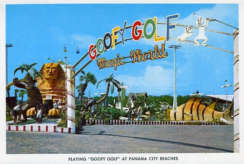 Postcard - Goofy Golf, Panama City Beach, FL - 1965