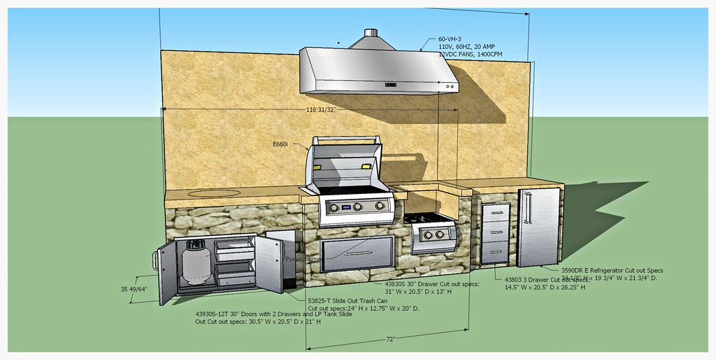 Design for Custom Fire Magic Outdoor Kitchen, Dalton, Ga.