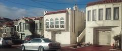(sftrajan) Tags: sanfrancisco house architecture housing streetscape stucco subdivision 2015 outermission missionterrace cayugaterrace farragutavenue interwararchitecture twinhousesphotoproject 136farragutavenue 130farragutavenue 124farragutavenue