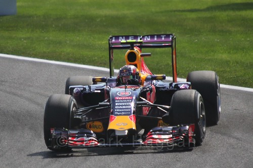 Daniil Kvyat in qualifying for the 2015 Belgium Grand Prix