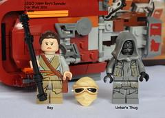 Star Wars LEGO 75099 Rey's Speeder (KatanaZ) Tags: starwars lego rey minifigs minifigures theforceawakens reysspeeder lego75099 unkarsthug