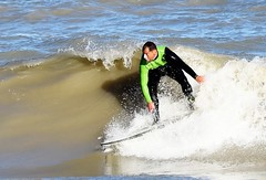 Nice Slice (Viv Lynch) Tags: autumn toronto ontario canada beach water surf day waves surfer secret sunny surfing greatlakes beaches surfers scarborough lakeontario gta eastern thebeach eastend freshwater 2015 unsalted larrycavero