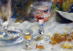 Renoir, Luncheon of the Boating Party, wine glasses
