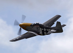 P-51 Mustang (Bernie Condon) Tags: plane vintage flying fighter aircraft military ww2 preserved mustang goodwood warplane p51 revival 2015 usaaf