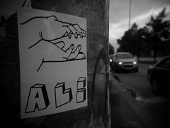 St.Pauli - Stickers (chicitoloco) Tags: urban music streetart art sticker hamburg stickers aligator communication urbanart ali stpauli aufkleber kleber politicalstatement protestform