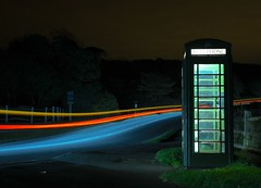 Taxi's Calling (Nikon D750) Tags: uk longexposure light haven night 35mm dark nikon taxi telephone sigma wideangle d750 sevensisters eastsussex telephonebox phonebox redphonebox cuckmere lighttrail cuckmerehaven 14mm a259 greenphonebox nikond750