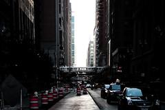 (shawnrowephoto) Tags: sun chicago lines train shadows cta streetphotography goldenhour