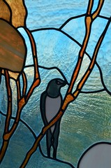 rondine di vetro (robra shotography []O]) Tags: glass swallow vetro vetrata glasswindow rondine vetrataartistica