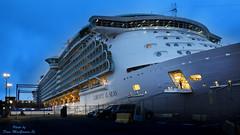 Saint John predawn Sept 14 2015 cruise ship 034 16x9 s a (DaveyMacG) Tags: longexposure cruise canada night photoshop ship newbrunswick cruiseship bayoffundy bluehour nite saintjohn 24105 libertyoftheseas canon6d