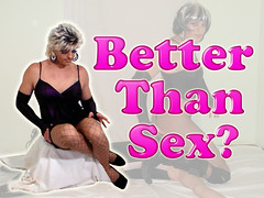 Better than sex (queen.catch) Tags: makeup gloves wig sissy tranny heels dragqueen pantyhose shemale betterthansex catchqueen