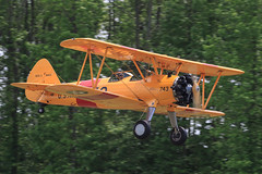 Boeing Stearman N2S-3 (Norman Graf) Tags: plane airplane aircraft wwii airshow boeing virginiabeach usnavy trainer warbird biplane stearman pt13 743 pt17 kaydet ns1 pt27 n2s n2s3 pt18 b75n1 boeingmodel75 n41ee 4125254 2015warbirdsoverthebeach