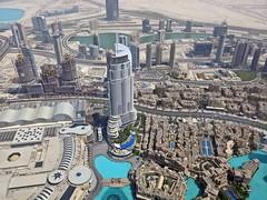 IMG_0158 from the top burj Khalifa (M0JRA) Tags: people buildings flying dubai aircraft emirates khalifa views airbus a380 roads airports sites burj