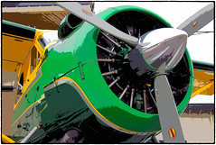 Seaplane Detail (NoJuan) Tags: airplane seaplane em1 kenmoreair radialengine micro43 microfourthirds olympusartfilter olympusem1