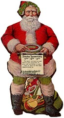 Santa's Favorite Simplex Typewriters, 1908 (Alan Mays) Tags: santa christmas xmas old newyorkcity red favorite ny newyork men green vintage ads paper advertising children toys typography newjersey holidays antique fingers nj hats beards illustrations ephemera gifts type santaclaus bags pointing advertisements fonts printed 1908 1900s typewriters typefaces schneider simplex december25 lithographers diecuts bergenlineavenue eschneider toytypewriters hudsonhill simplextypewriters indextypewriters simplexlithographco simplexlithograph eschneidersonsco