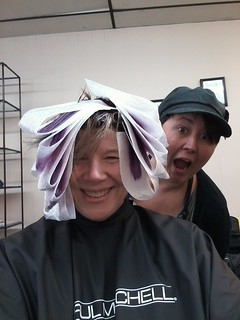 During...... with my stylist, Jamie, the artist