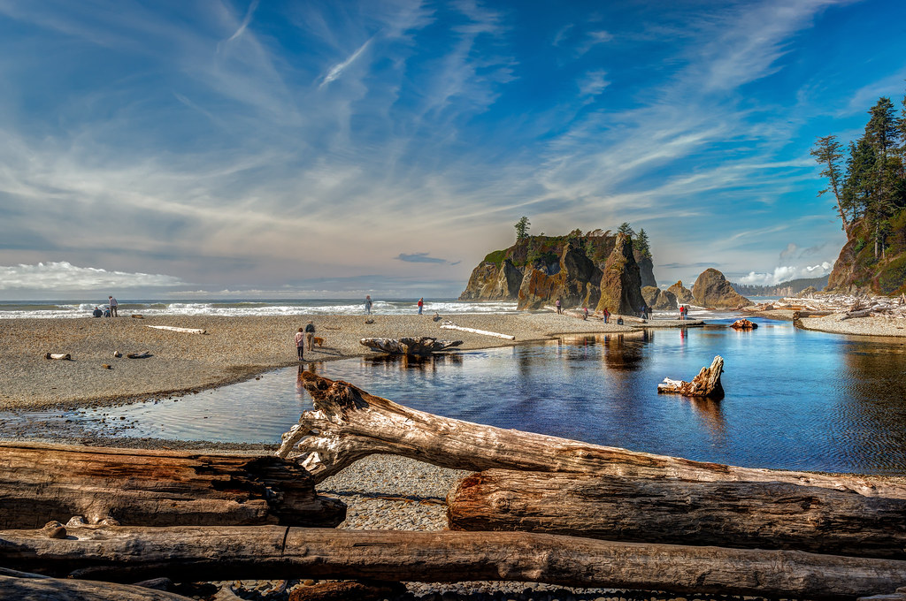 Landscape Boulders Tacoma : Usa seascape reflection tourism beach nature water clouds landscape