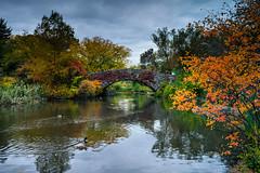 Autumn in Central Park (Jim Nix / Nomadic Pursuits) Tags: nyc newyorkcity travel bridge newyork fall pond cityscape centralpark manhattan sony landmark empirestate bigapple hdr primelens mirrorless 28mmf2 nomadicpursuits jimnix sonya7ii
