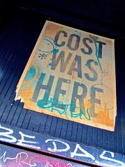 Cost, New York, NY (Robby Virus) Tags: street nyc newyorkcity ny newyork adam art graffiti flyer cole manhattan wheatpaste paste cost here bigapple