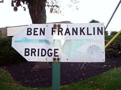 DRPA Ben Franklin Bridge Sign (JSF0864) Tags: road bridge sign goose directional